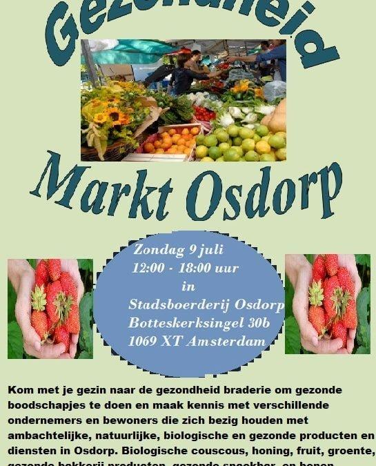 Zondag 9 juli Gezonde markt
