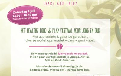 Zaterdag 8 juli Healthy Food & Play Festival